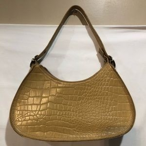 Franco Sarto croc embossed leather shoulder bag